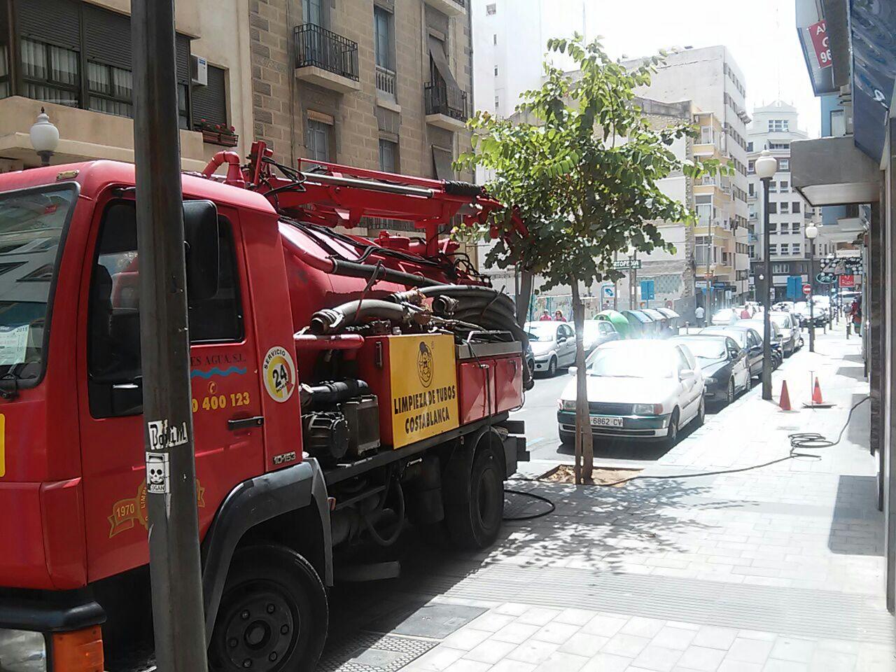 baldeo de calles